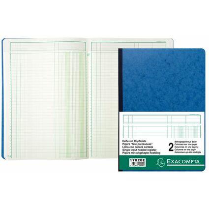 EXACOMPTA Geschäftsbuch mit Kopfleiste, 8 Spalten je Seite