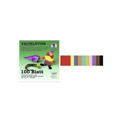 """URSUS Faltblätter """"Tonzeichenpapier"""", (B)100 x (H)100 mm"""