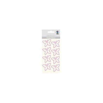 """URSUS Design-Sticker """"Schmetterling"""", pink"""