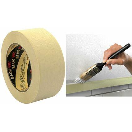3M Krepp-Klebeband 201E, 36 mm x 50 m, Papier, beige