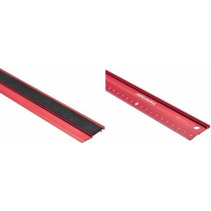 transotype Schneidelineal, aus Aluminium, 600 mm