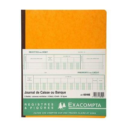 """EXACOMPTA Spaltenbuch """"2 libellés 7 débit 14 crédit"""""""