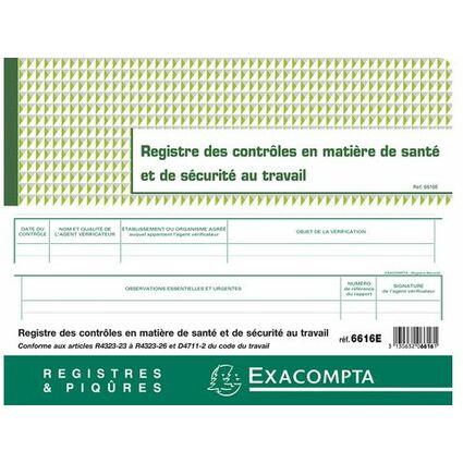 """EXACOMPTA Geschäftsbuch """"Contrôle de sécurité"""", 240 x 320 mm"""