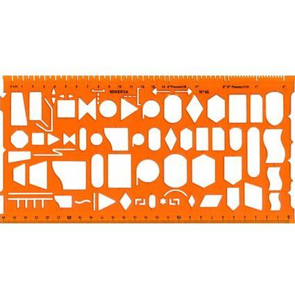 MINERVA Organigraph Schablone Symbole 45,