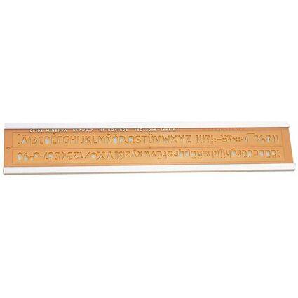 MINERVA Schriftschablone, Schrifthöhe: 8 mm