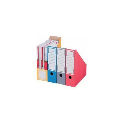 smartboxpro Archiv-Stehsammler, DIN A4, rot, mit Greifloch