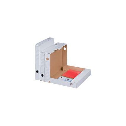 smartboxpro Archiv-Schachtel, weiß, Rückenbreite: 70 mm