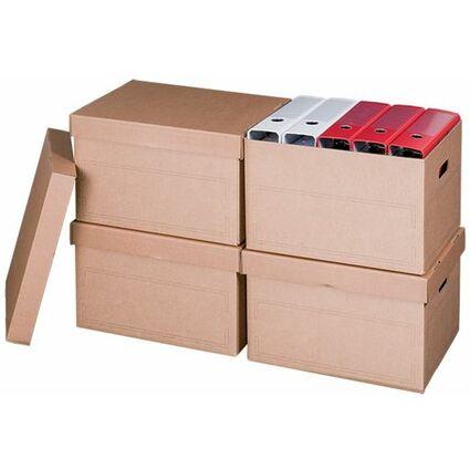 smartboxpro Archiv-/Transportbox, mit Deckel, braun