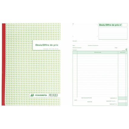 "EXACOMPTA Manifold ""Devis Offre de prix"", 297 x 210 mm"