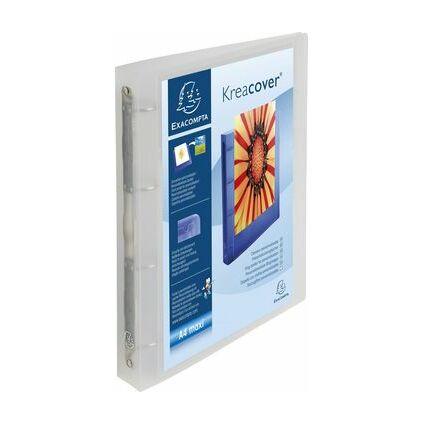 EXACOMPTA Präsentations-Ringbuch, A4 Maxi, weiß, 4O-Ring