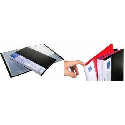 EXACOMPTA Sichtbuch, DIN A4, PP, 30 Hüllen, schwarz