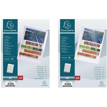EXACOMPTA Sichthülle, DIN A4, PP 0,12 mm, genarbt