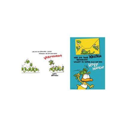 """SUSY CARD Geburtstagskarte - Humor """"Ein paar Kröten"""""""