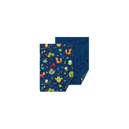 """HEYDA Bastelkarton """"Eulen"""", (B)500 x (H)700 mm, blau"""