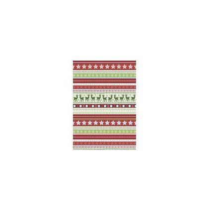 """HEYDA Weihnachts-Bastelkarton """"Sweet Home"""", Rot Streifen"""