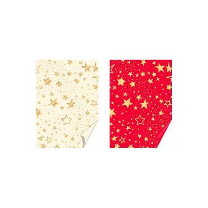 """HEYDA Weihnachts-Bastelkarton """"HEYDA Star"""", rot/gold"""