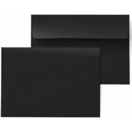 PAPYRUS Briefumschlag Rainbow, DIN C6, 120 g/qm, schwarz