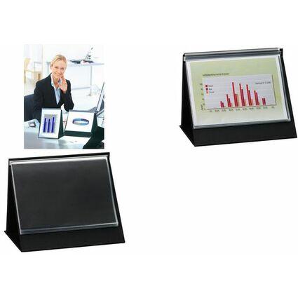 rillstab Tisch-Flipchart, A4 quer, schwarz, inkl. 20 Hüllen