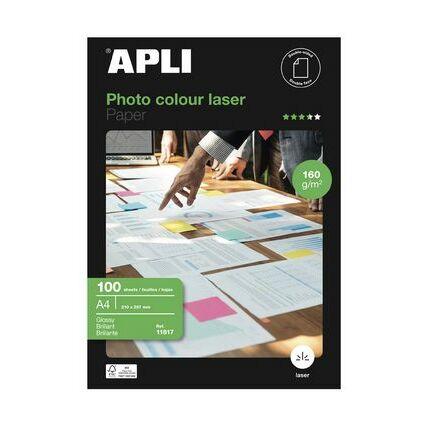 agipa Laser-Foto-Papier, DIN A4, 160 g/qm, hochglänzend