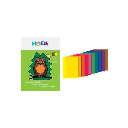 "HEYDA Transparentpapier-Heft ""Drachenpapier"", 42 g/qm"