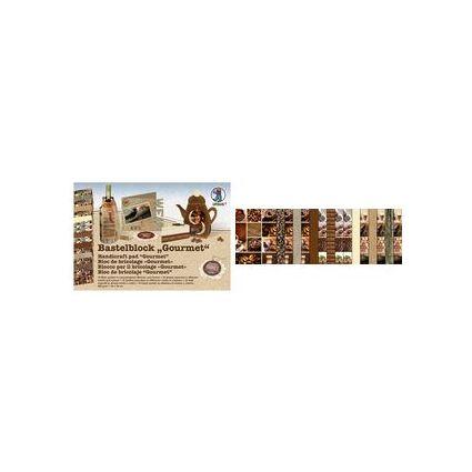 """URSUS Fotokarton-Bastelblock """"Gourmet"""", 300 g/qm"""