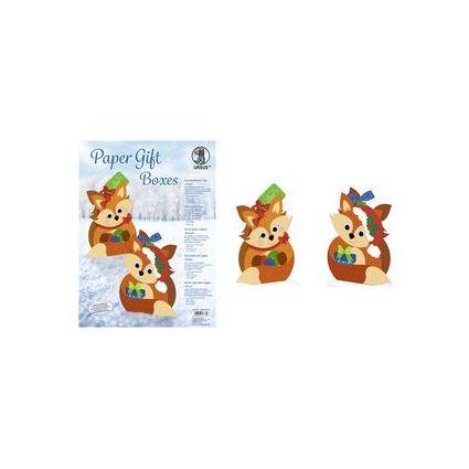 """URSUS Weihnachts-Geschenkbox Paper Gift Boxes """"Fuchs"""""""