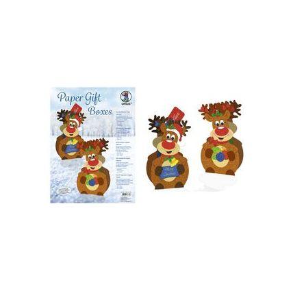 """URSUS Weihnachts-Geschenkbox Paper Gift Boxes """"Rentier"""""""