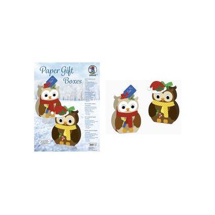 """URSUS Weihnachts-Geschenkbox Paper Gift Boxes """"Eule"""""""