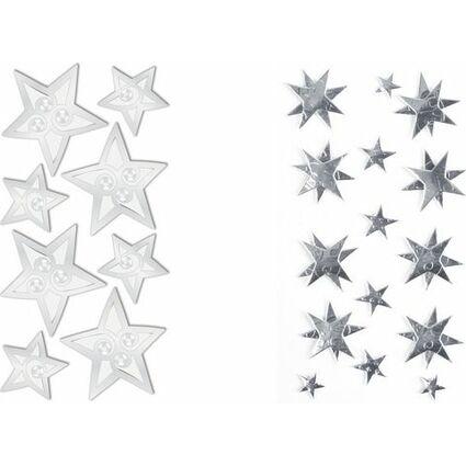 """HEYDA Weihnachts-Sticker Stick-On's """"Sterne"""", silber"""