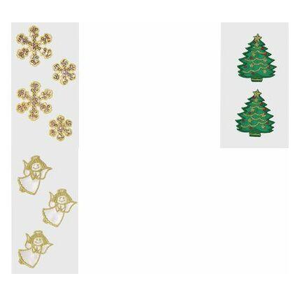 """HEYDA Weihnachts-Textilsticker """"Engel"""""""