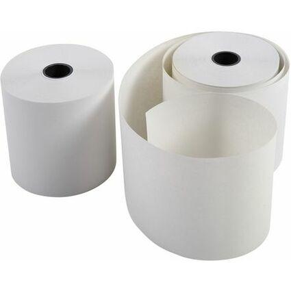 EXACOMPTA Kassenrollen, 76 mm x 55 m x 12 mm, extra weiß