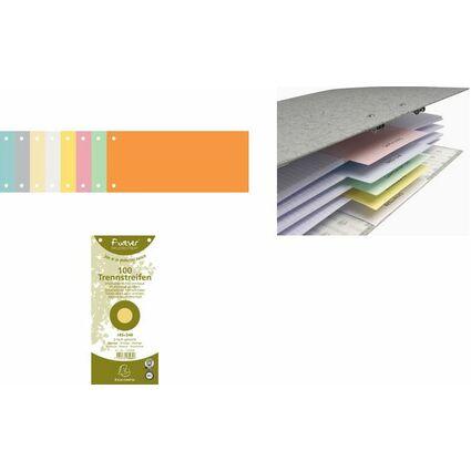 EXACOMPTA Trennstreifen 105 x 240 mm, weiß, 180 g/qm