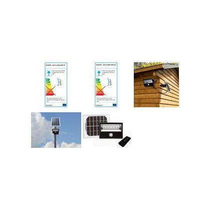 DIODOR LED Solar-Flutlichtstrahler Outdoor, 16 Watt, schwarz