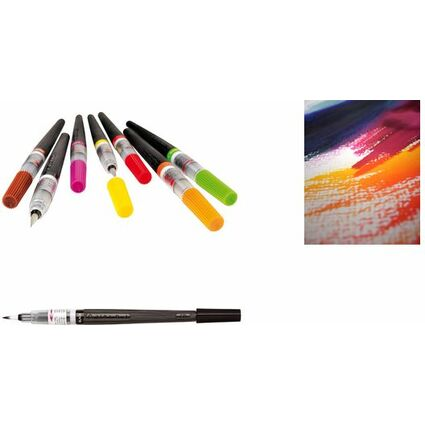 PentelArts Colour Brush Aquarellpinselstift, schwarz