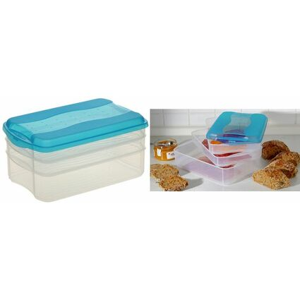 "ok Frischhaltedosen-Set ""Food Center"", fresh-blue"