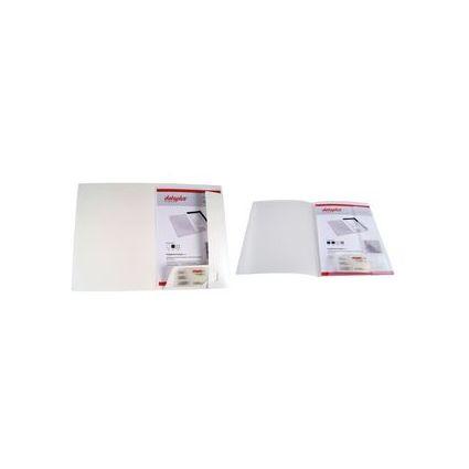 dataplus Angebotsmappe aus Kunststoff, DIN A4, weiß