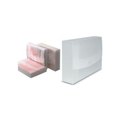 dataplus Heftbox 75, aus Kunststoff, A4, natur-transparent