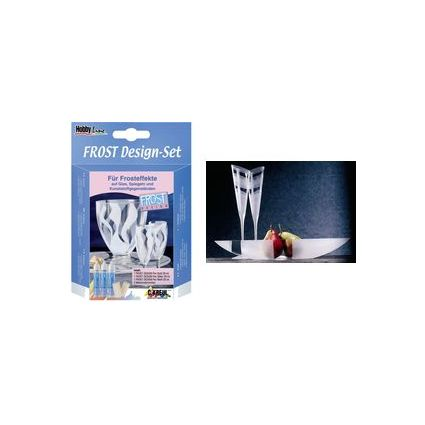 "KREUL Glasmalfarbe Hobby Line ""Frost Design"", Set 3 x 29 ml"
