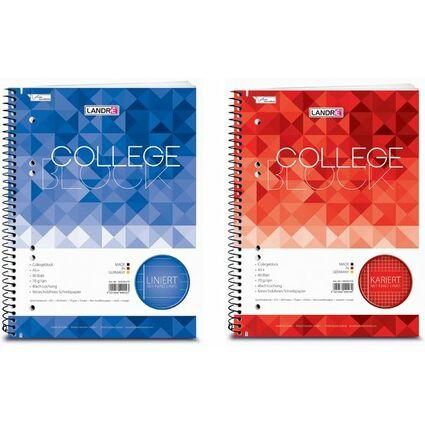 """LANDRÉ Collegeblock """"College"""" DIN A5, liniert, 80 Blatt"""