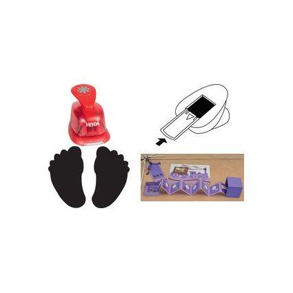 HEYDA Motiv-Locher Füße, klein, Farbe: rot