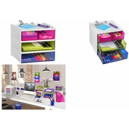 CEP Mini-Schubladenbox MyCube, 3 Schübe, anis-grün