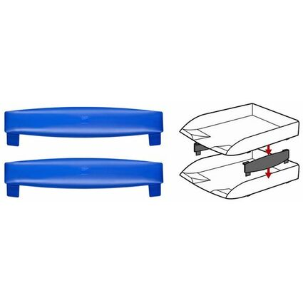 CEP Distanzelement-Set, für Briefablagen, Farbe: blau