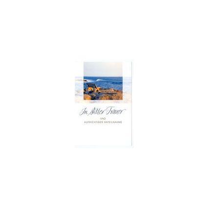 HORN Trauerkarte - Weiße Lilien  - inkl. Umschlag