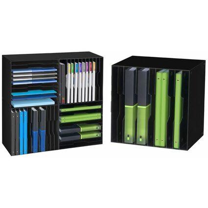 CEP Sortierbox CubiCep, 12 Fächer, anisgrün / weiß