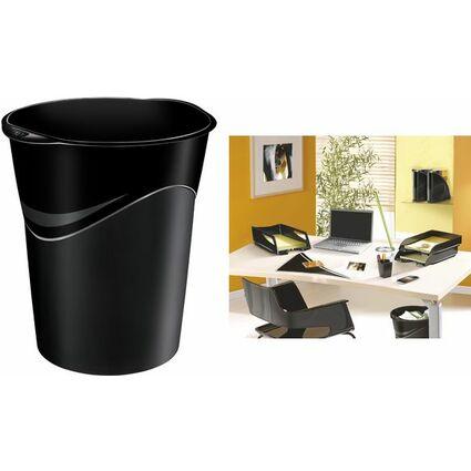 CEP Papierkorb CepPro GreenSpirit, 14 Liter, schwarz