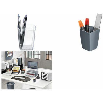 CEP Stifteköcher CepPro, 2 Fächer, glasklar