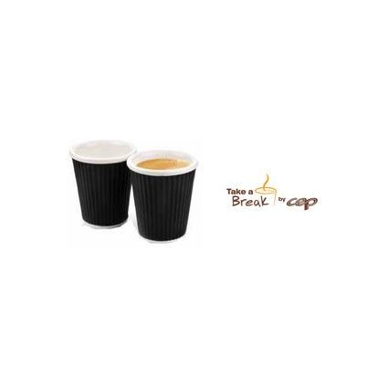 CEP Porzellanbecher Set Take a Break, 0,18 l, schwarz