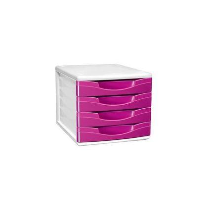 CEP Schubladenbox CepBox GLOSS, 4 Schübe, violett