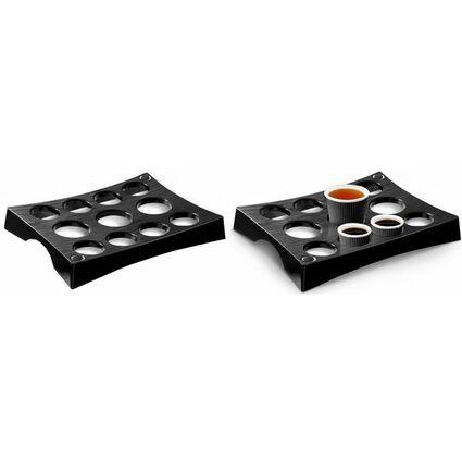 CEP Becherträger, für 11 Becher, schwarz, aus Polystyrol
