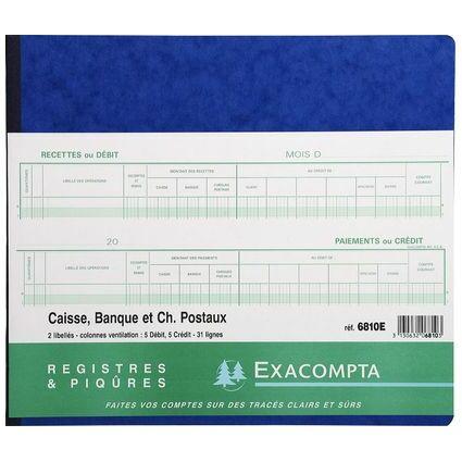 """EXACOMPTA Spaltenbuch """"2 libellés 5 débit 5 crédit"""""""